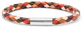 Paul Smith Woven Leather Bracelet - Brown