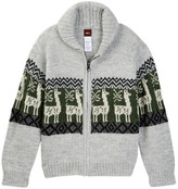 Tea Collection Las Alpacas Zip Cardigan (Toddler, Little Boys, & Big Boys)