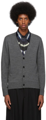 Dries Van Noten Grey Wool Cardigan