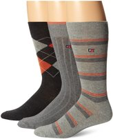 Cutter & Buck Men's 3 Pack Fashion Casual Crew Socks