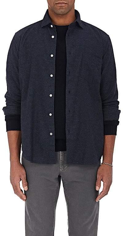 Hartford Men's Pinpoint Cotton Flannel Button-Front Shirt