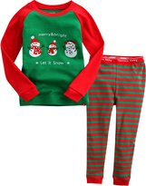 Vaenait Baby Kids Boys Chirstmas X-Mas Sleepwear Pajama Set Merry Snow XL
