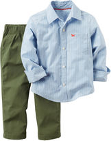 Carter's 2-pc. Striped Shirt and Olive Pants Set - Toddler Boys 2t-5t