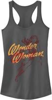 Licensed Character Juniors' DC Comics Wonder Woman Outline Tank Top