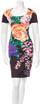 Blumarine Floral Print Sheath Dress