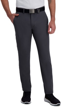 Haggar Men's Active Series Slim-Straight Fit Flat-Front Urban Pants