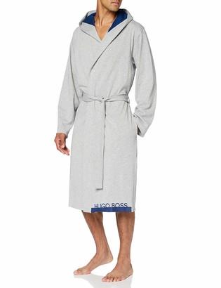 HUGO BOSS Men's Identity Hooded Gown Bathrobe