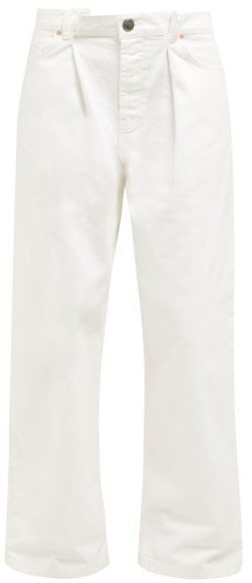 Raey Fold Dad Baggy Boyfriend Jeans - Womens - White