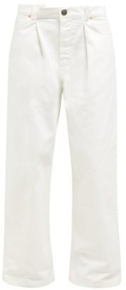 Raey Fold Dad Baggy Boyfriend Jeans - White