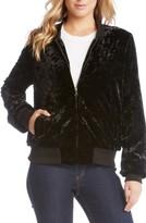 Karen Kane Women's Velvet Bomber Jacket