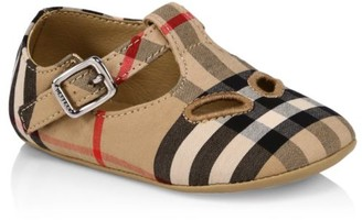 Burberry Baby's Kipling Check Mary Janes