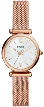 Fossil ES4433 Carlie Rose Gold Watch