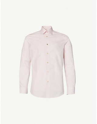 Paul Smith Long-sleeved tailored-fit cotton shirt