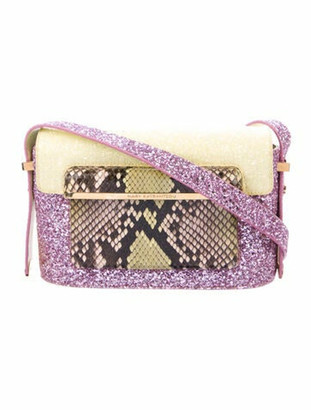 Mary Katrantzou Python-Trimmed MVK Bag Pink