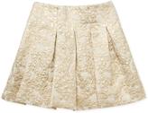 Oscar de la Renta Jacquard Box Pleat Skirt