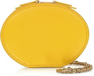 Cafune Dandelion Yellow Leather Egg Chain Shoulder Bag