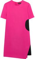 Versace Two-Tone Stretch-Crepe Mini Dress