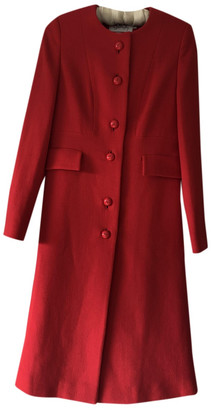 Goat Red Wool Coats