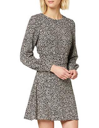Warehouse Women's Mini Square Print Belted Flippy Dress Casual