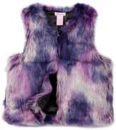 Design History Tie Dye Faux Fur Vest (Big Girls)