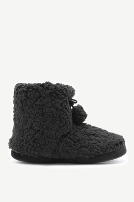 Ardene Faux Sherpa Moccasin Slippers