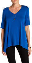 Karen Kane Short Sleeve Swing Shirt