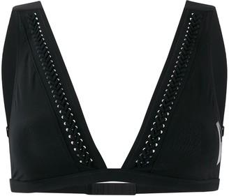 Calvin Klein Underwear Woven Detailed Bikini Top