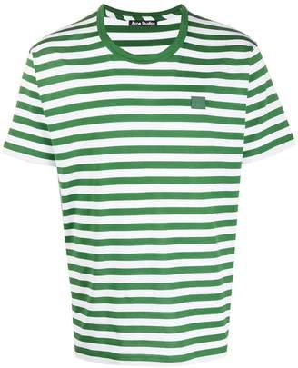 Acne Studios Face striped short-sleeve T-shirt
