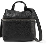 Kara Micro Textured-leather Shoulder Bag - Black