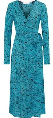 Diane von Furstenberg Tilly Printed Silk Crepe De Chine Midi Wrap Dress