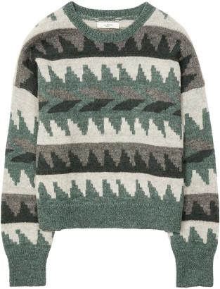 Etoile Isabel Marant Gatsy Intarsia-Knit Alpaca-Blend Sweater