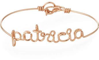 Atelier Paulin Personalized 10-Letter Wire Bracelet, Rose Gold Fill