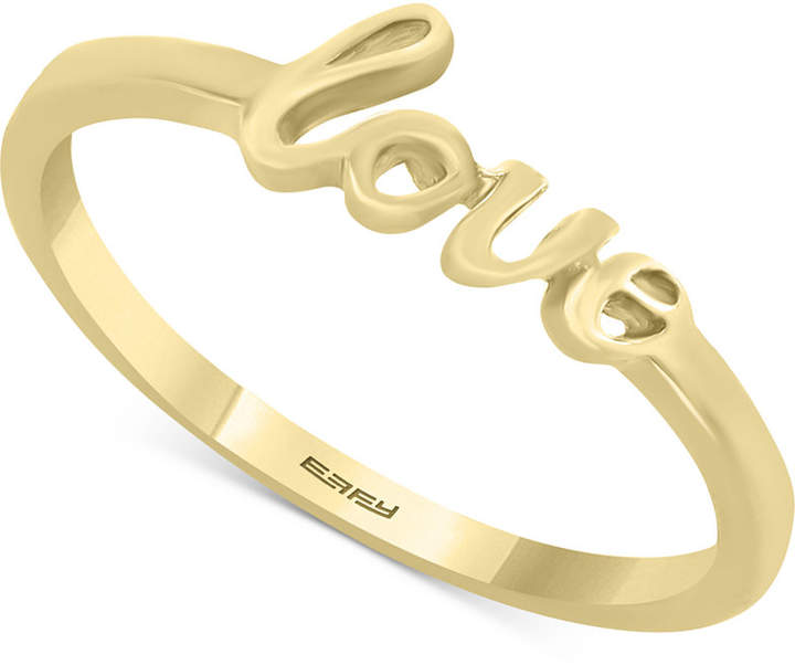 "Effy Kidz Children's ""Love"" Script Ring in 14k Gold"
