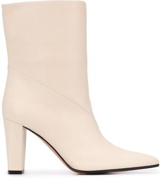 Bally Mid-Calf Block Heel Boots