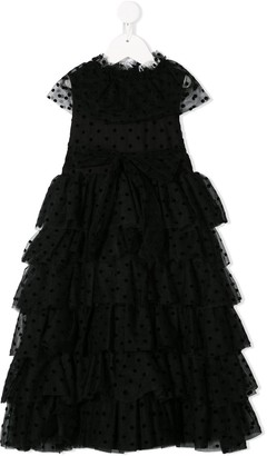 Sonia Rykiel ENFANT polka dot tulle dress