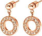 Folli Follie Classy rose gold-plated drop earrings