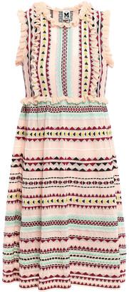 M Missoni Ruffle-trimmed Jacquard-knit Dress