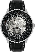 Rocawear Men's Black And Silver Skeleton Dial Strap Watch Rm7612S1-362