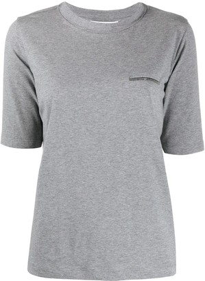 Fabiana Filippi stud-detail T-shirt