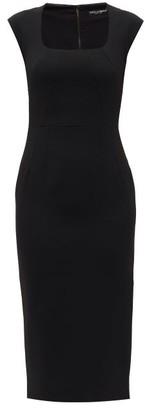 Dolce & Gabbana Cady Square-neckline Crepe Dress - Womens - Black