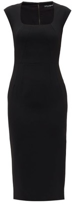 Dolce & Gabbana Square-neck Crepe Sheath Dress - Black