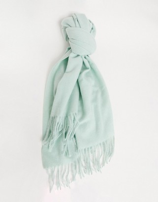 Accessorize Holly supersoft blanket scarf in sage green
