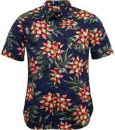 French Connection Mens Floral 2 Shirt Marine Floral