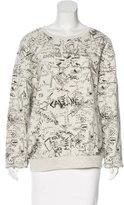 McQ Crew Neck Embroidered Sweatshirt