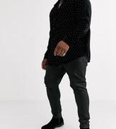 Asos Design DESIGN Plus super skinny coated leather look jeans in black