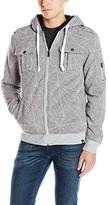 Southpole Men's Hooded Sherpa Fleece Jacket with Allover Prints