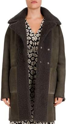 Gerard Darel Ambre Reversible Real Shearling Coat