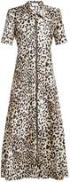 Raey Zip-front leopard-print twill dress