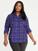 Old Navy Classic Plus-Size Plaid Flannel Shirt