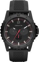 Claiborne Mens Black Dial Black Silicone Strap Watch